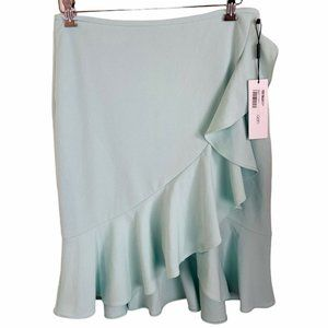 CALVIN KLEIN SIZE 12P MINT GREEN LINED RUFFLED WOM
